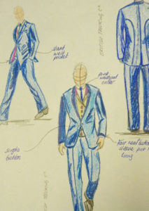 made to measure suit sketch