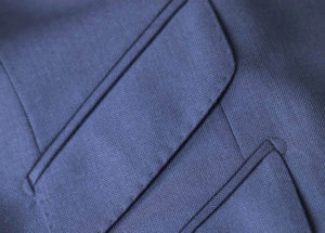 tailored suit pocket