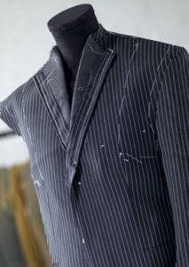 pinned pinstripe suit