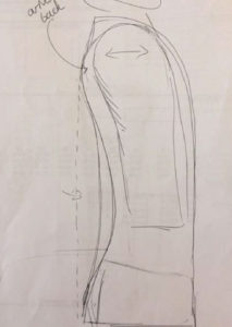 tailored suit sketch