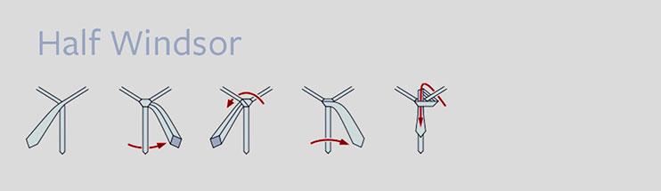 half windsor tie knot