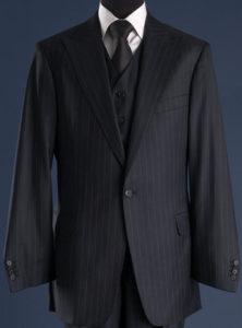 deep blue cloth suit
