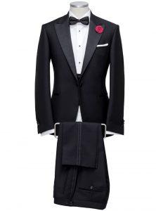 tailored black tie suit