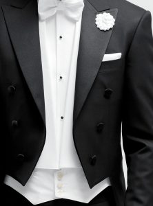 made to measure black tie suit