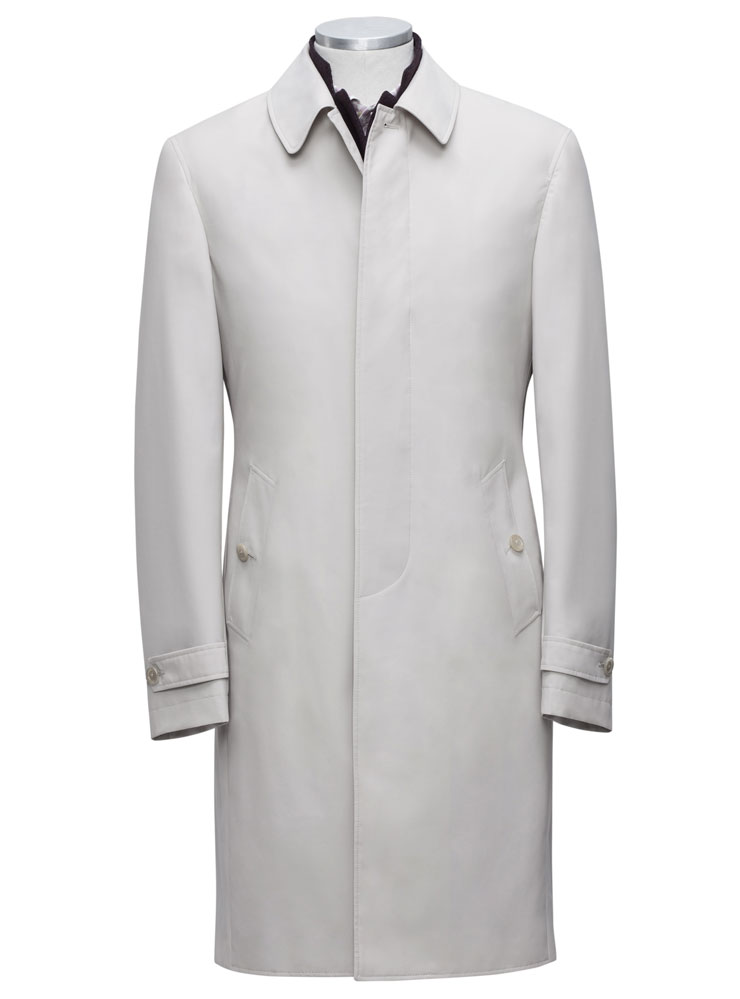 tailored long overcoat