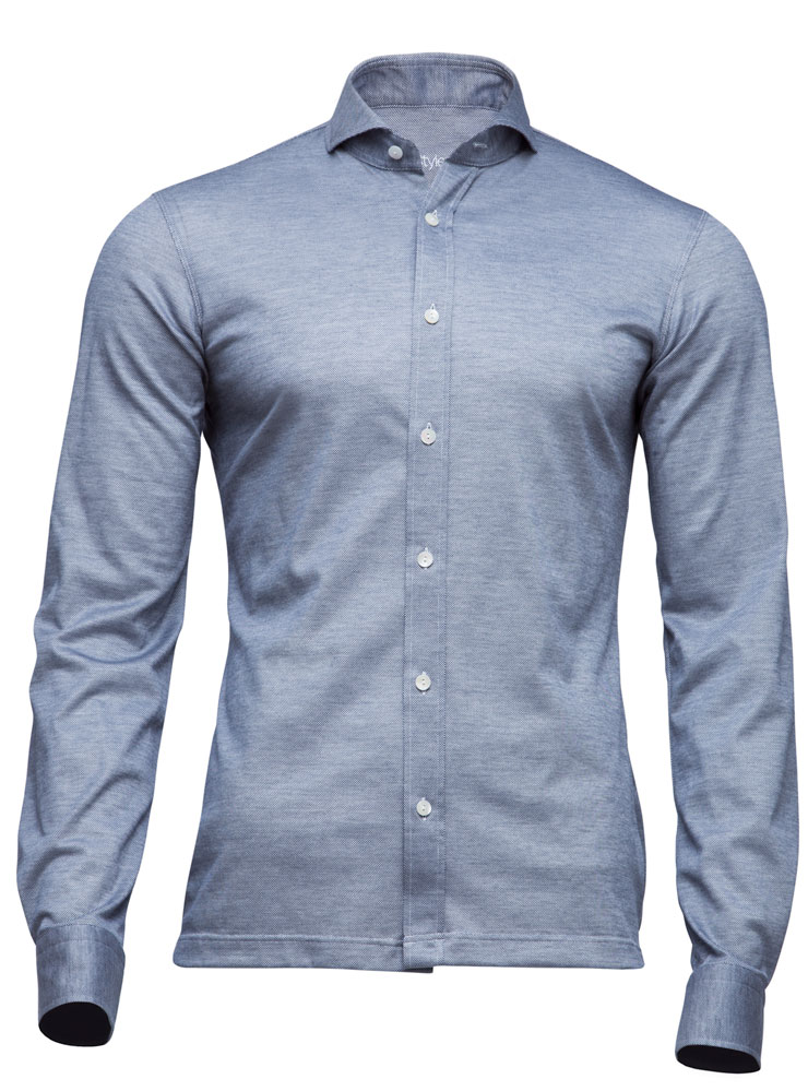 tailored long sleeve polo shirt